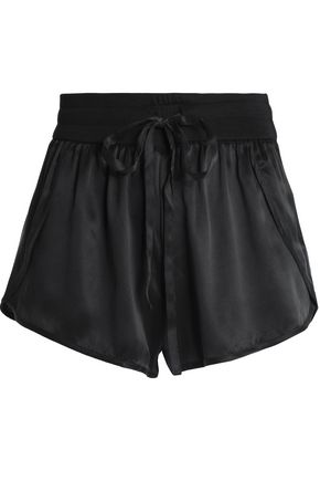 YUMMIE by HEATHER THOMSON Silk-satin shorts