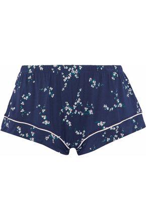 EBERJEY Printed modal-blend pajama shorts