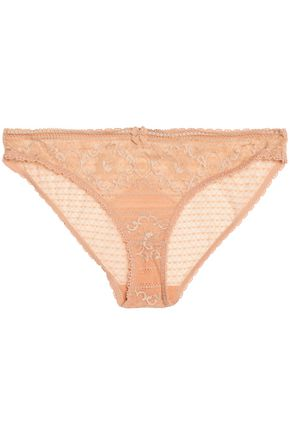 STELLA McCARTNEY Bow-detail lace briefs