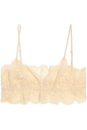GANNI Ruffled corded lace soft-cup bra