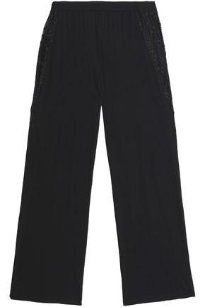COSABELLA Lace-trimmed jersey pajama pants