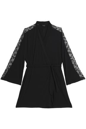 COSABELLA Lace-trimmed jersey robe