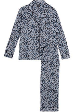 COSABELLA Leopard-print modal-blend jersey pajama set