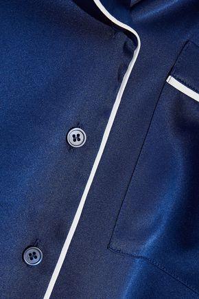 IRIS & INK Dylan silk-blend satin pajama set