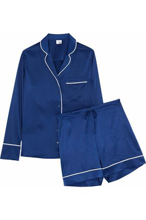 IRIS & INK Dylan stretch-silk pajama set