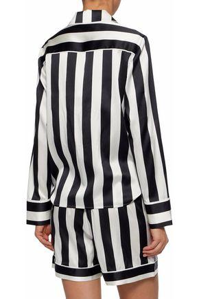 IRIS & INK Devon striped silk-blend satin pajama set
