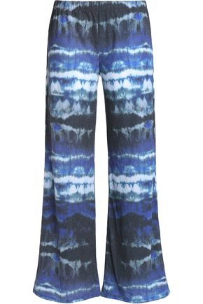 YUMMIE by HEATHER THOMSON Printed stretch-knit wide-leg pants