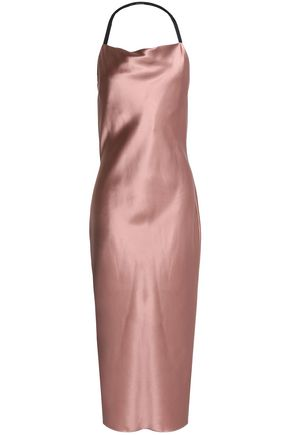 FLEUR DU MAL Draped silk-satin nightdress