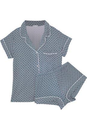 EBERJEY Printed jersey pajama set