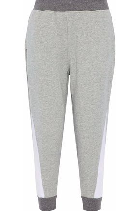 SKIN Color-block stretch-cotton tapered pants