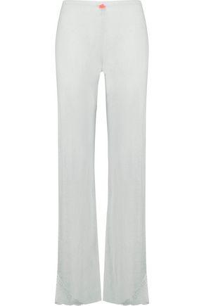 EBERJEY Aubrey lace-trimmed stretch-jersey pajama pants