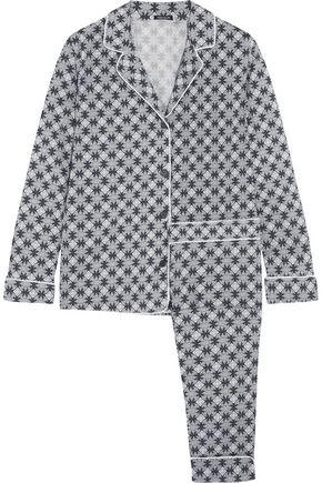 HEIDI KLUM INTIMATES Snow Petal printed stretch cotton-jersey pajama set