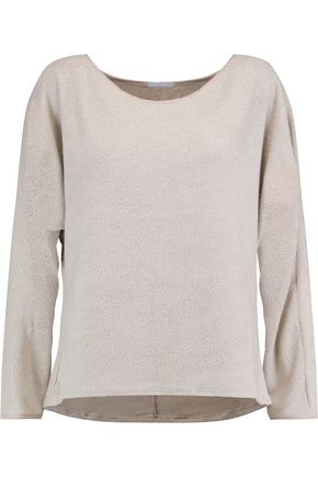 EBERJEY Norman modal-blend fleece pajama top