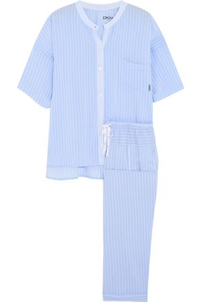 DKNY Capri striped jersey pajama set