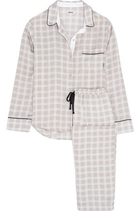 DKNY Printed crepe pajama set