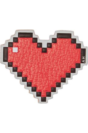 ANYA HINDMARCH Heart textured-leather stickers