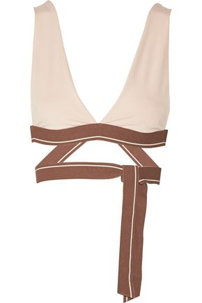 OLYMPIA ACTIVEWEAR Knot stretch-jersey sports bra
