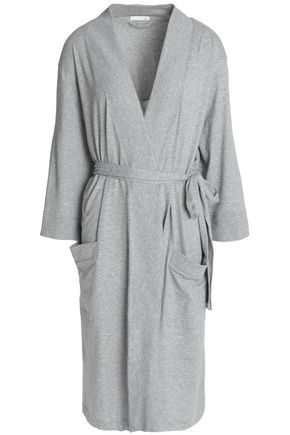 SKIN Mélange cotton-jersey robe