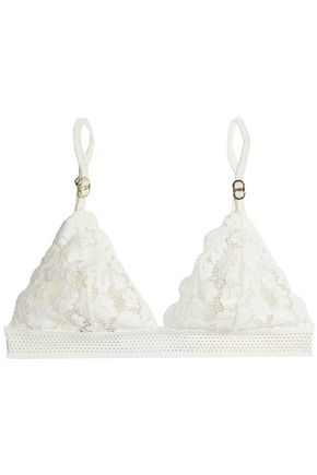 STELLA McCARTNEY Cotton-blend lace soft-cup triangle bra