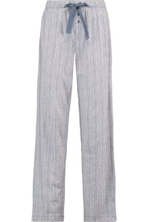 CALVIN KLEIN UNDERWEAR Striped stretch-cotton pajama pants