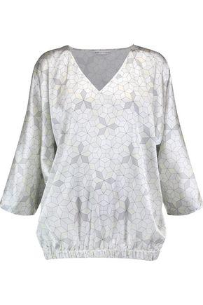 MIMI HOLLIDAY by DAMARIS Panarea printed stretch-silk satin pajama top