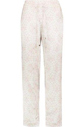 MIMI HOLLIDAY by DAMARIS Seychelles printed stretch-silk satin pajama pants