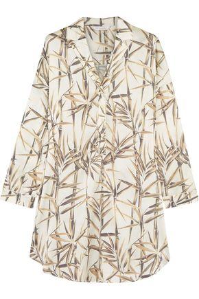 MIMI HOLLIDAY by DAMARIS Printed stretch-silk satin pajama top
