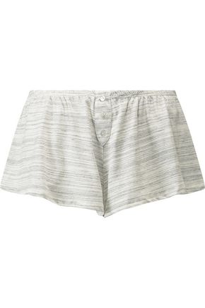 EBERJEY Alex slub stretch cotton-jersey pajama shorts