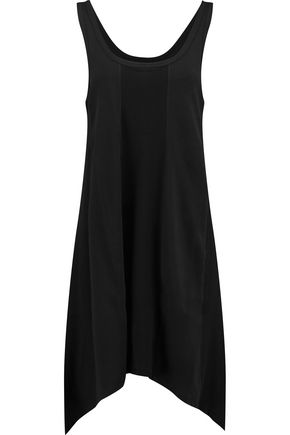 DKNY Asymmetric mélange stretch modal-blend jersey dress