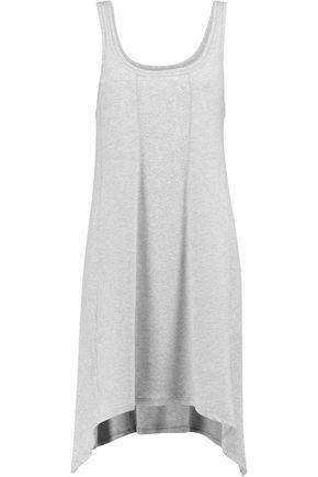 DKNY Asymmetric ribbed cotton-blend nightdress
