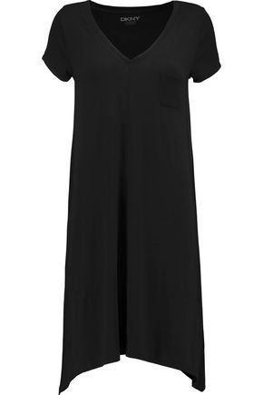 DKNY Draped stretch-modal jersey nightdress