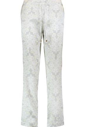 MIMI HOLLIDAY by DAMARIS Panarea printed stretch-silk pajama pants