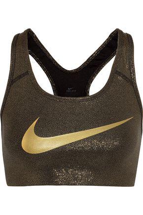 NIKE Pro Classic metallic stretch-jersey sports bra