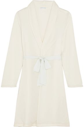 EBERJEY Alpine Chic reversible modal-jersey and fleece robe