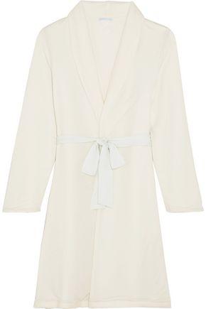 EBERJEY Alpine Chic reversible modal-jersey and fleece robe