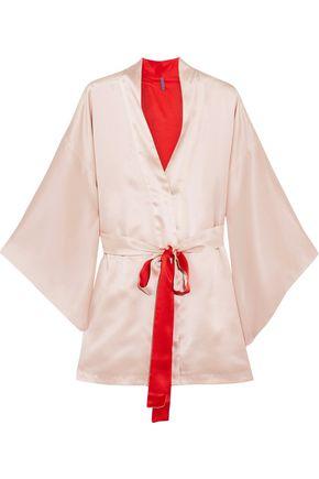 ELLE MACPHERSON BODY Free embroidered silk-satin robe