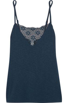 EBERJEY Cara lace-paneled slub stretch-jersey camisole