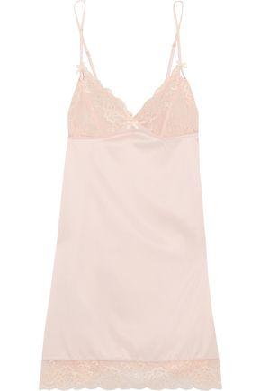 HEIDI KLUM INTIMATES Zoe lace-trimmed satin chemise