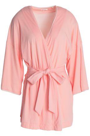 SKIN Karen Pima cotton-jersey robe