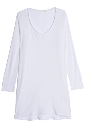 SKIN Ribbed Pima cotton-jersey nightdress