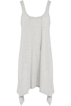 DKNY Asymmetric ribbed cotton-blend nightdress