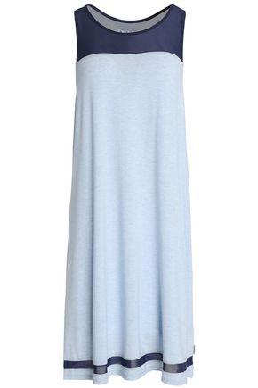 DKNY Mélange stretch-modal jersey nightshirt