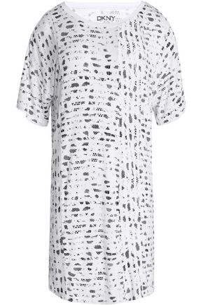 DKNY Printed stretch-modal jersey nightshirt