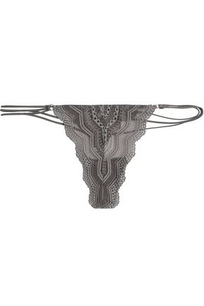 COSABELLA Low-rise scalloped crochet thong