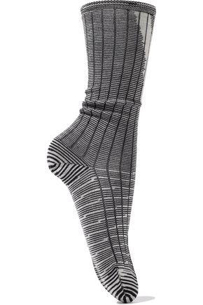 M MISSONI Striped ribbed wool-blend socks