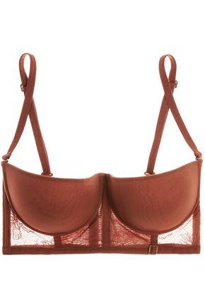 LA PERLA Eva multi-way stretch-tulle and Leavers lace balconette bra
