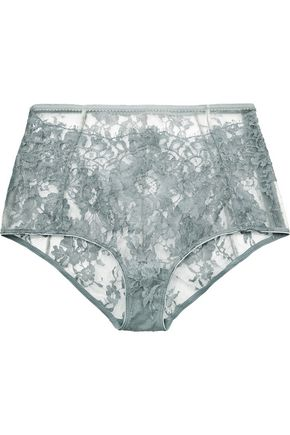 I.D. SARRIERI High-rise Chantilly lace briefs