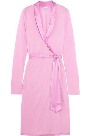 LA PERLA Windflower satin-trimmed modal-jersey robe