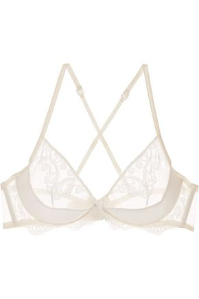 LA PERLA Light And Shadow lace and satin balconette bra