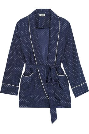 SLEEPY JONES Agnelli printed silk-charmeuse jacket